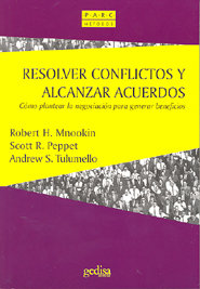 Resolver conflictos y alcanzar acuerdos