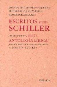 Escritos sobre schiller seguidos de una breve antologia liri