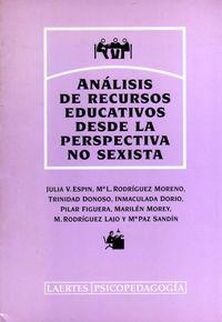 Analisis recursos educ.perspec.sexista