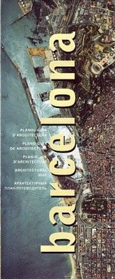Plano-guia de la arquitectura de barcelona
