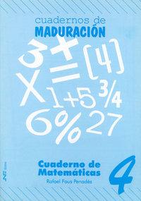 Cuaderno matematicas 4 ne