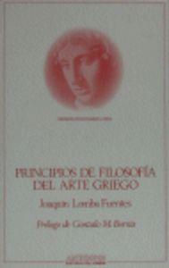 Principios de filosofia del arte griego