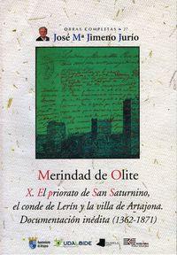 Merindad de olite. x. el priorato de san saturnino, el conde