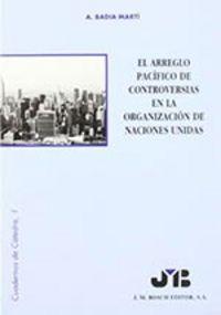 Arreglo pacifico de controversias en la organizacion de naci