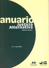 Anuario de justicia alternativa. nº 7  año 2006