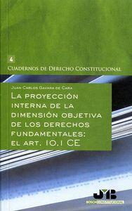 Proyeccion interna de la dimension objetiva de los derechos