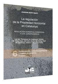 Regulacion de la propiedad horizontal en catalunya.  regulac