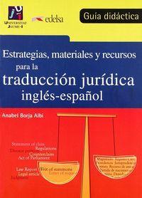 Estrategias materiales recursos traduccion juridica guia