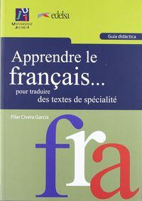 Apprendre le francais pour traduire des textes