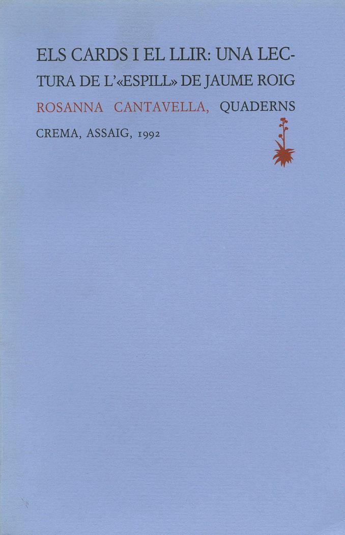 Els cards i el llir: una lectura de l'espill de jaume roig