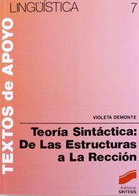 Teoria sintactica estructuras reccion
