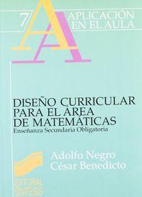 Diseño curricular area matematicas
