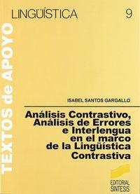 Analisis contrastivo analisis errores