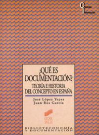 Que es documentacion teoria e historia