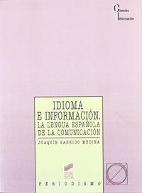 Idioma e informacion lengua española