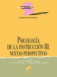 Sicologia instruccion iii nuevas perspectivas