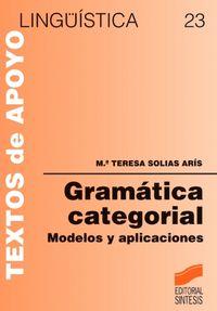 Gramatica categorial