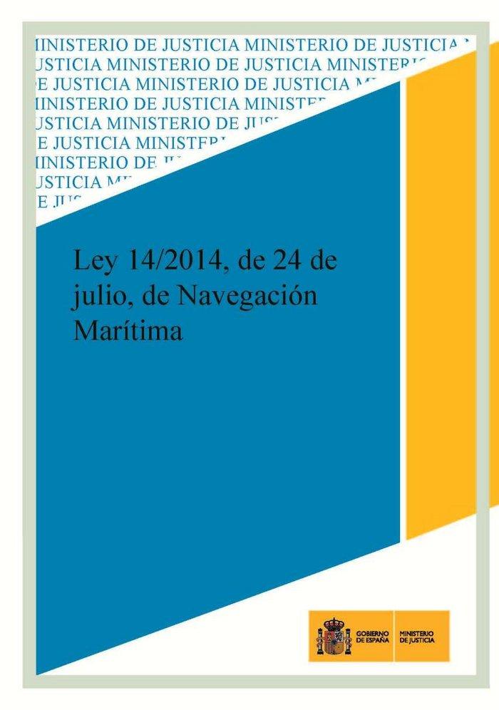 Ley 14/2014, de 24 de julio, de navegacion maritima