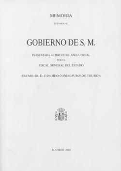 Memoria de la fiscalia general de estado 2004