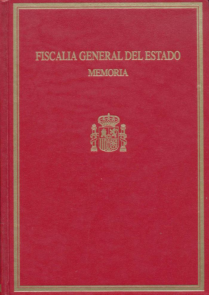 Memoria de la fiscalia general del estado 2003