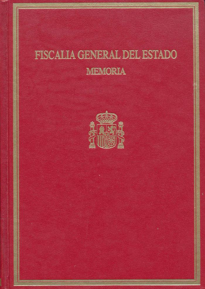 Memoria de la fiscalia general del estado 2000