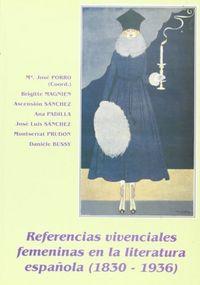 Referencias vivenciales femeninas en la literatura española