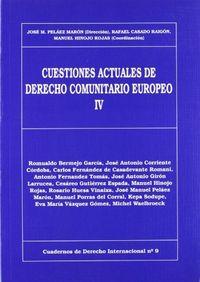 Cuestiones actuales de derecho comunitario iv nº 9