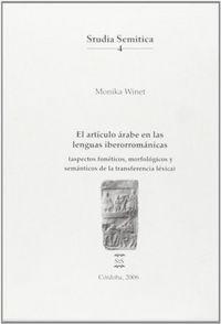 Articulo arabe en las lenguas iberorromanicas,el