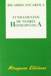 Fundamentos teoria homeopatica