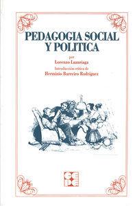 Pedagogia social y politica