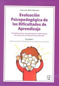 Evaluacion psicopedagogica dificultades aprendizaje vol.i