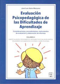 Evaluacion psicopedagogica dificultades aprendizaje vol.ii