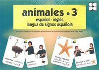 Animales 3 español ingles lengua de signos española