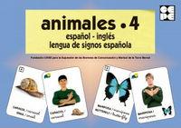 Animales 4 español ingles lengua de signos española