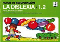 Fichas recuperacion dislexia nivel b inicial