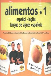 Alimentos 1 baraja español/ingles signos