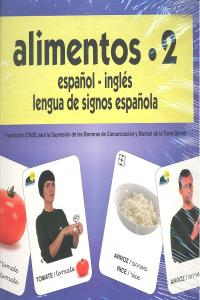 Alimentos 2 baraja español/ingles signos