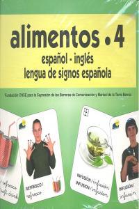 Alimentos 4 baraja español/ingles signos