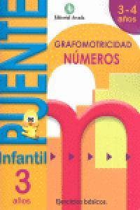 Puente infantil 3-4años numeros grafomotricidad 2012