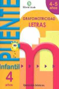 Puente infantil 4-5años letras grafomotricidad 2012