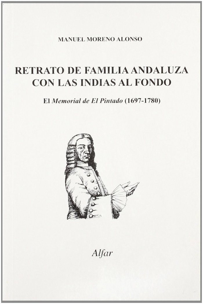 Retrato de familia andaluza con las indias al fondo memoria