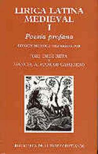 Lirica latina medieval. i: poesia profana