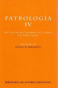 Patrologia. iv: del concilio de calcedonia (451) a beda. los