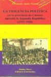Violencia politica caceres 1931-1936