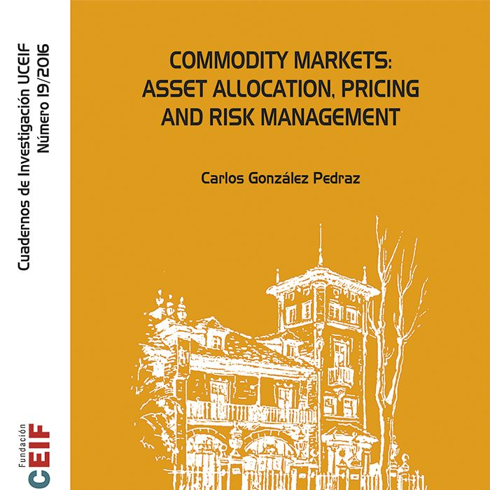 Commodity markets: asset allocation, pricing and risk manage