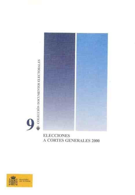 Elecciones a cortes generales 2000