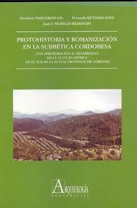Protohistoria y romanizacion en la subbetica cordobesa