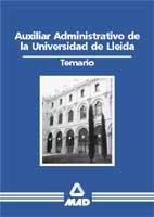 Auxiliar administrativo de la universidad de lleida
