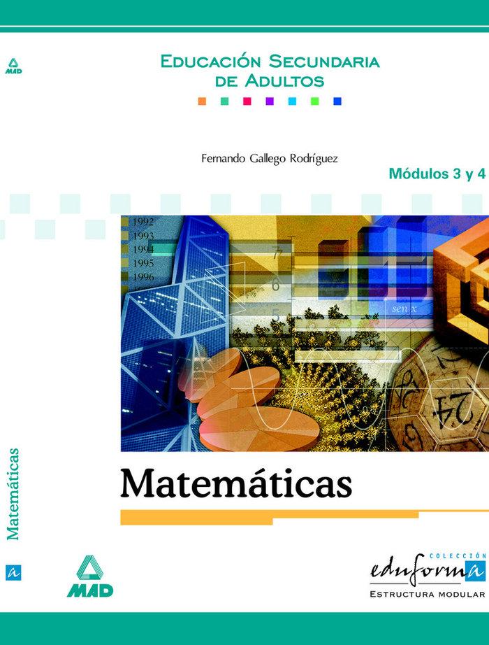 Matematicas modulos 3 y 4 esa