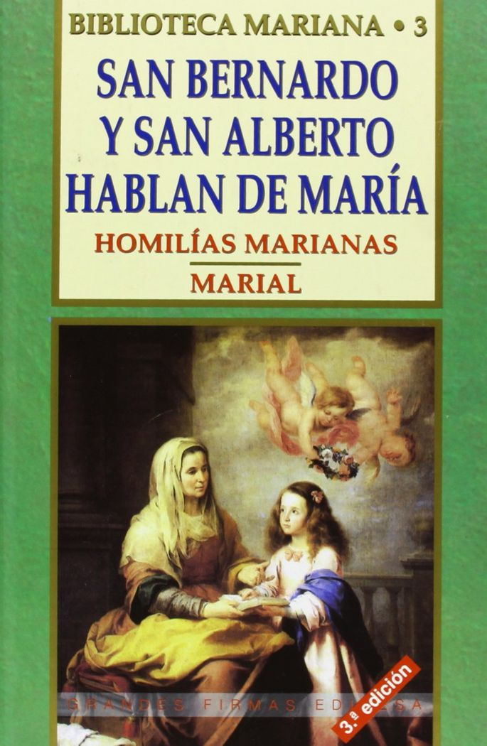 San bernardo y san alberto hablan de maria